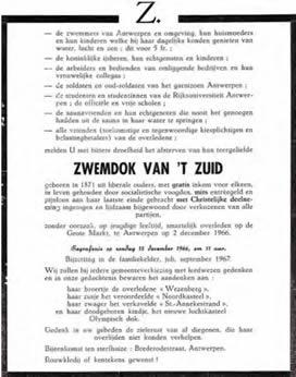 Historiek - 1968- doodsbericht Zwemdok Zuid